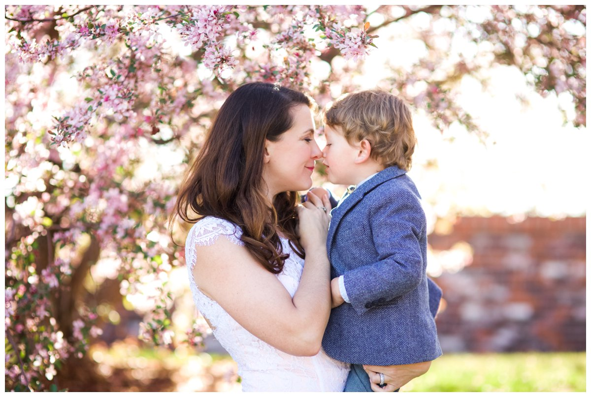 Sweet mother and son family photo by Bend portrait photographer Daylene W.