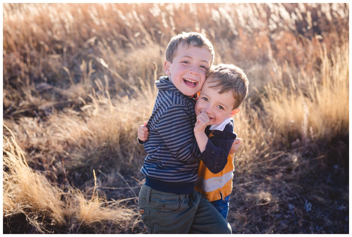 Outdoor children's photography of brothers in Bend Oregon