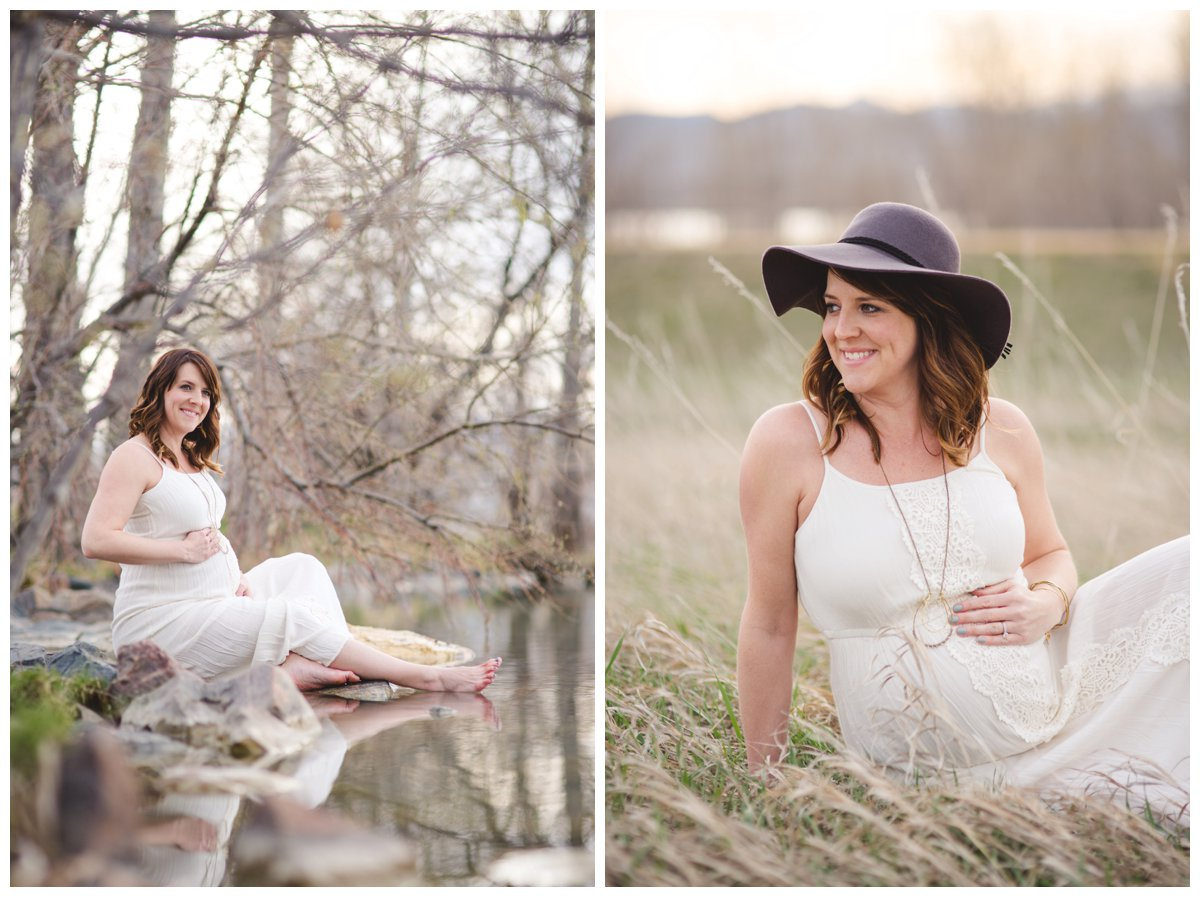 Natural maternity photos of mother and baby in Bend Oregon.