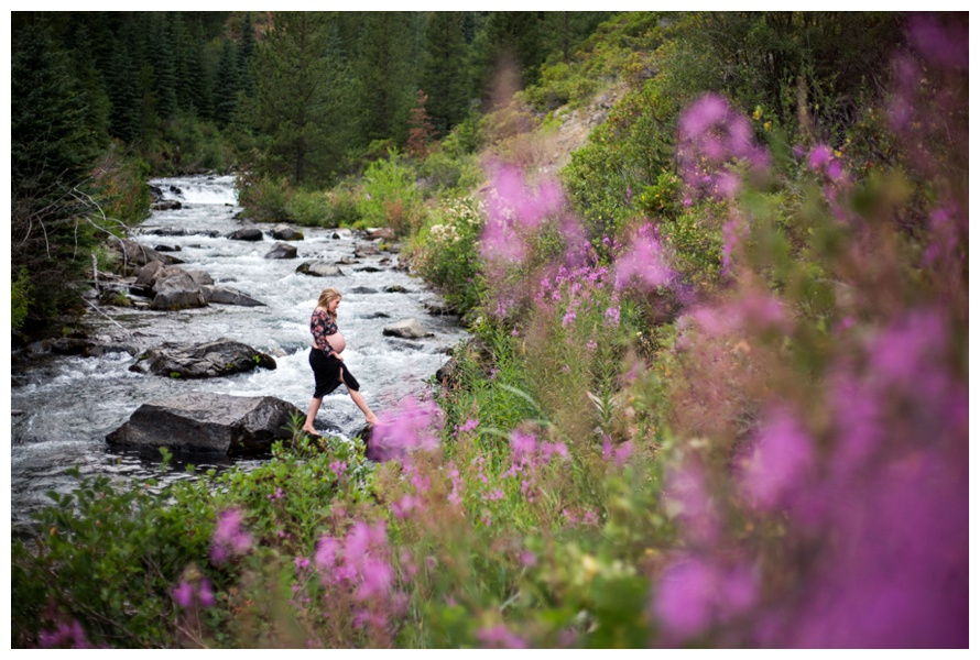 Waterfall Pregnancy Photos Tumalo Falls